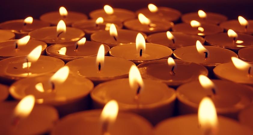 view at candles